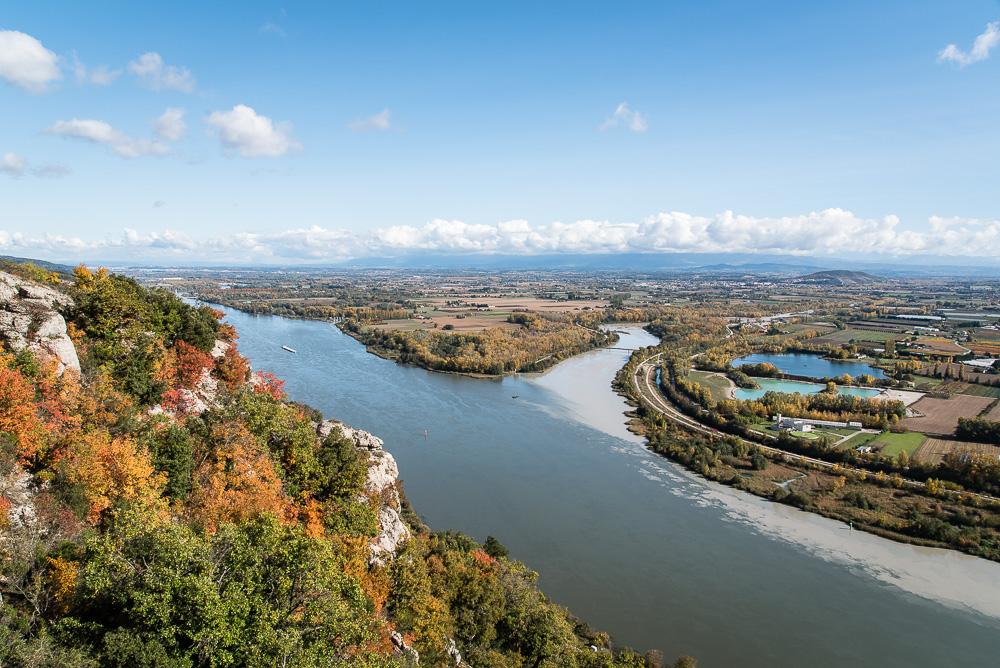 COnfluence de la Drôme et du Rhône